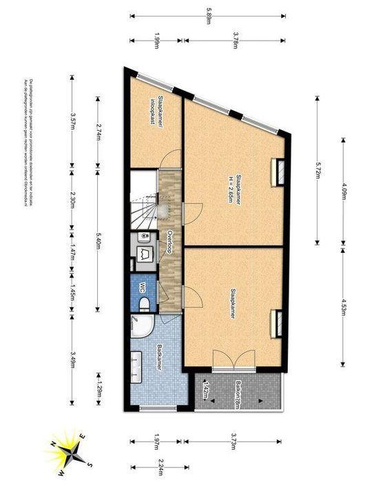 Achterom 38, Delft plattegrond-3