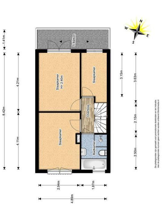 La Pazstraat 9, Delft plattegrond-1