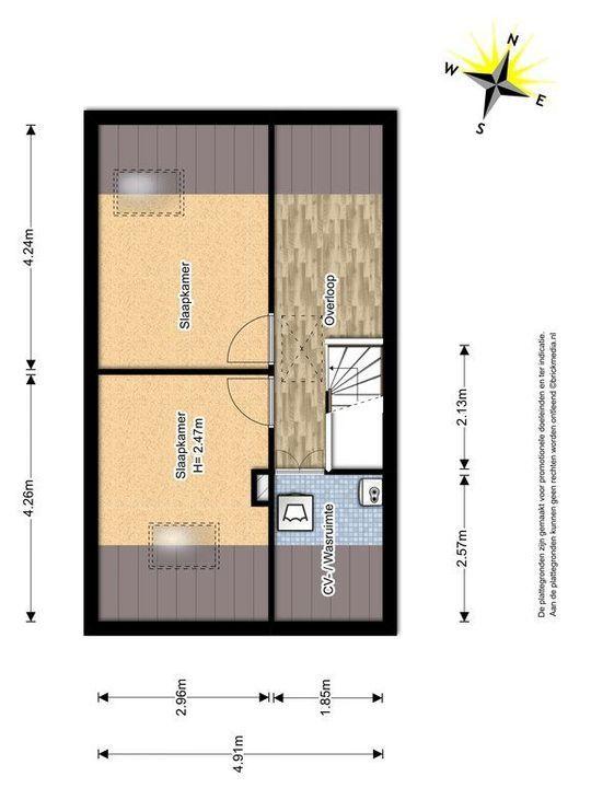 La Pazstraat 9, Delft plattegrond-2