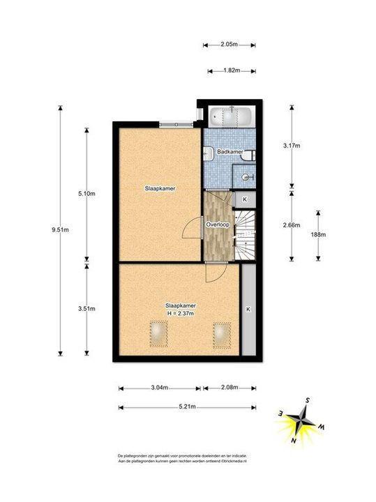 Cubalaan 46, Delft plattegrond-1