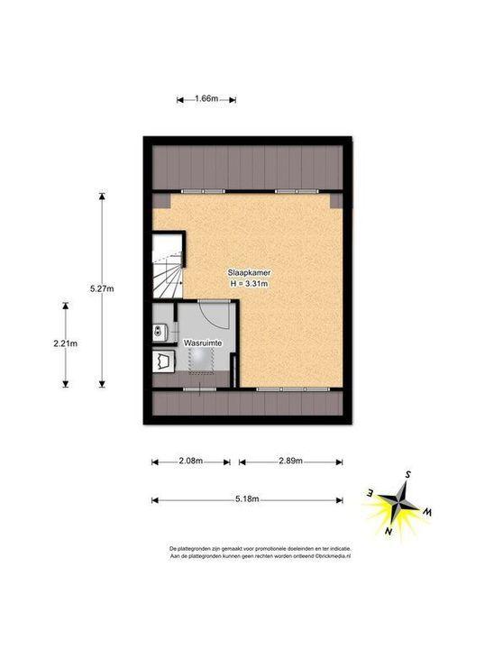 Cubalaan 46, Delft plattegrond-2