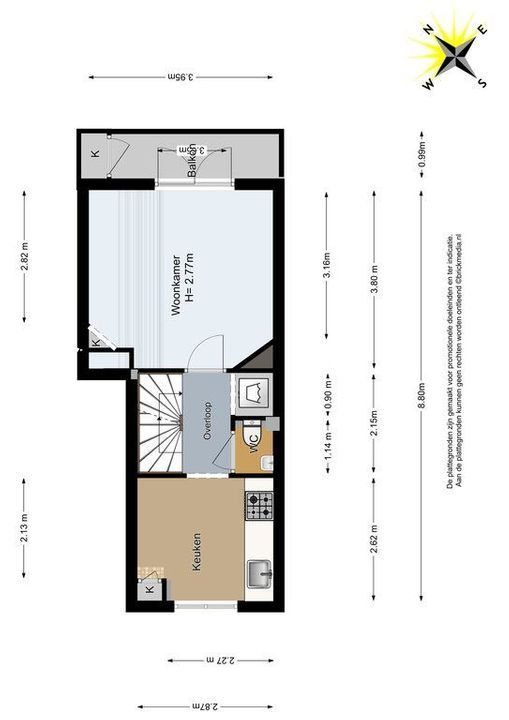Jacob Catsstraat 36, Delft plattegrond-1
