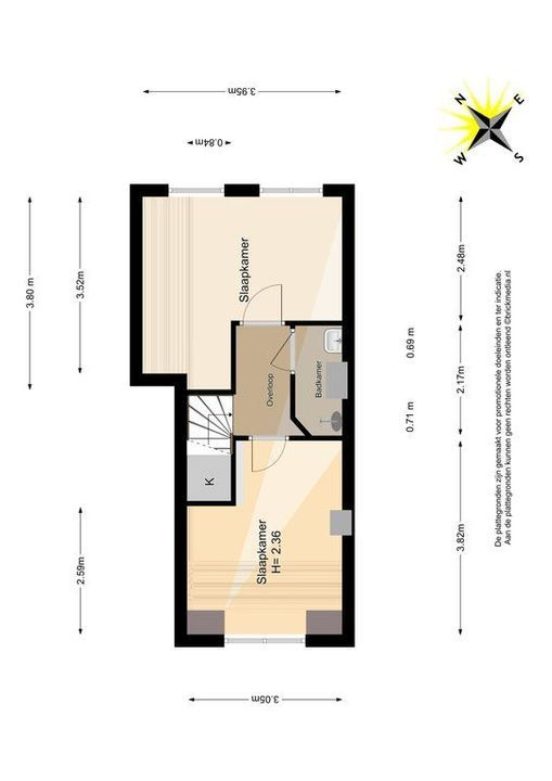 Jacob Catsstraat 36, Delft plattegrond-2