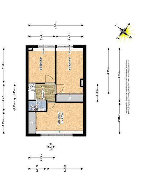 Van de Spiegelstraat 35, Delft plattegrond-1