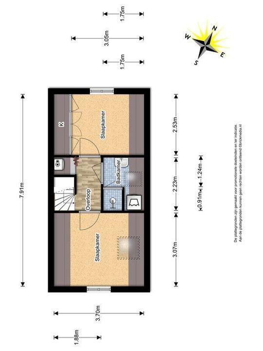 Harmenkokslaan 64, Delft plattegrond-1