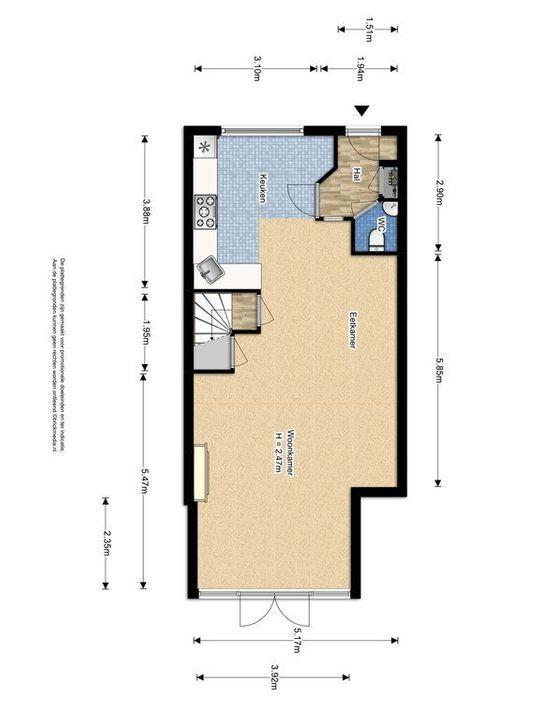 Straat van Ormoes 6, Delft plattegrond-0