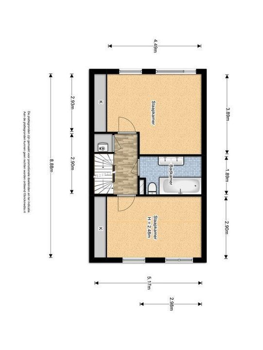 Straat van Ormoes 6, Delft plattegrond-1