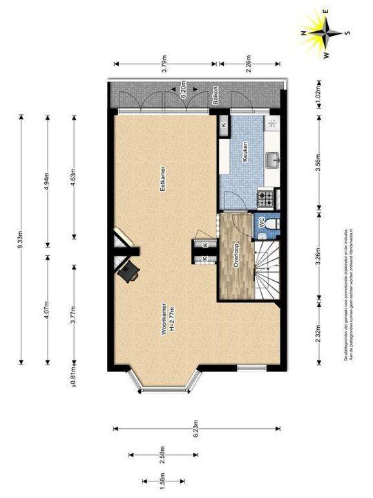 Westplantsoen 108, Delft plattegrond-1