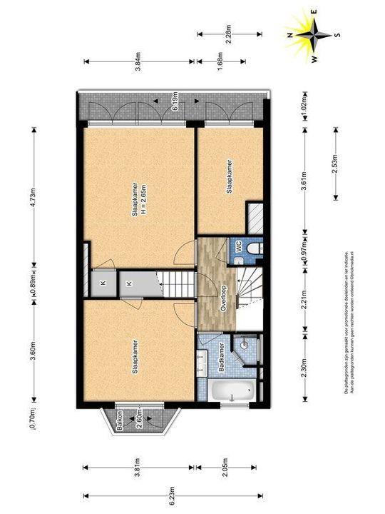 Westplantsoen 108, Delft plattegrond-2