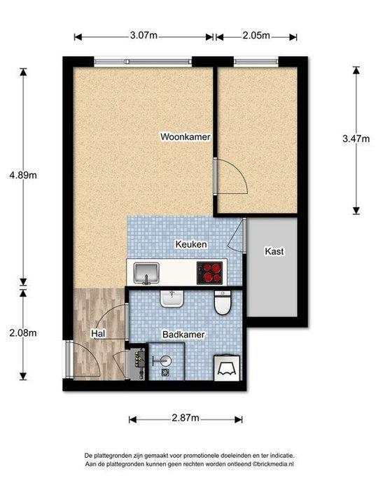 Oude Langendijk 12 F, Delft plattegrond-0
