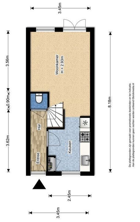 Pootstraat 109 A, Delft plattegrond-1