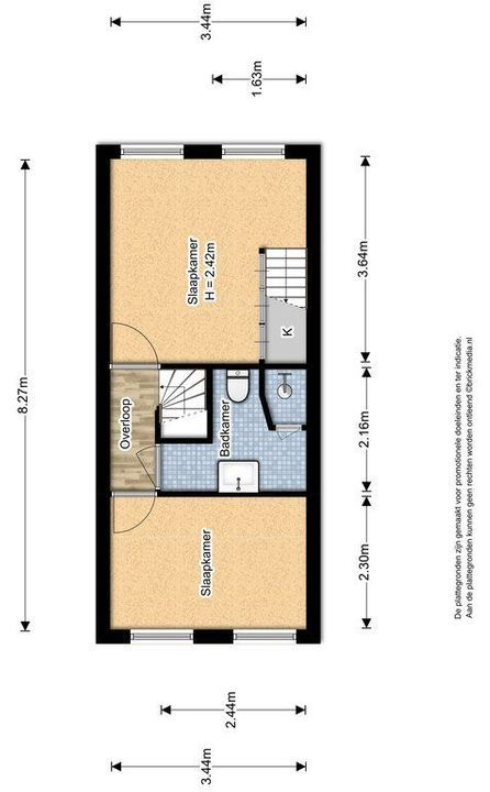 Pootstraat 109 A, Delft plattegrond-2