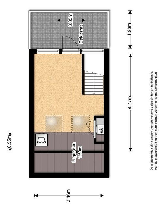 Pootstraat 109 A, Delft plattegrond-3