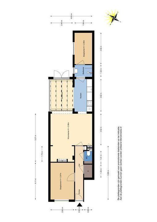 Warmoezierstraat 44, Delft plattegrond-0