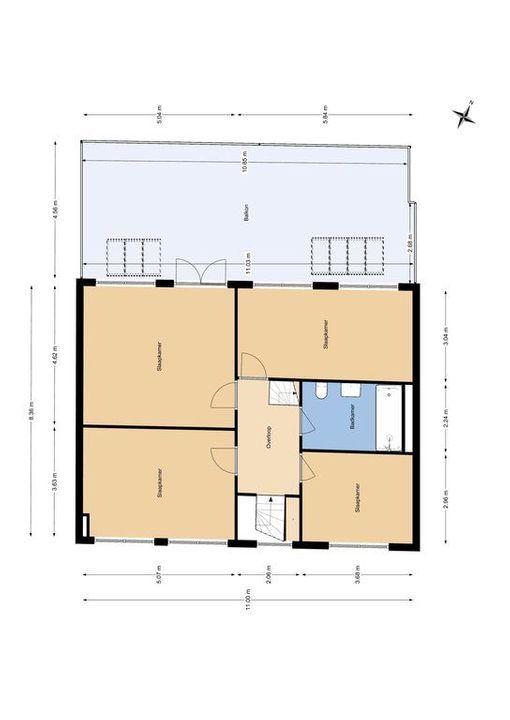 Bagijnhof 116, Delft plattegrond-2