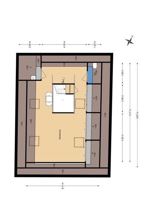 Bagijnhof 116, Delft plattegrond-3