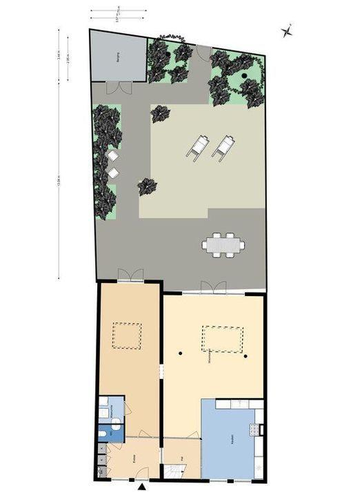 Bagijnhof 116, Delft plattegrond-0