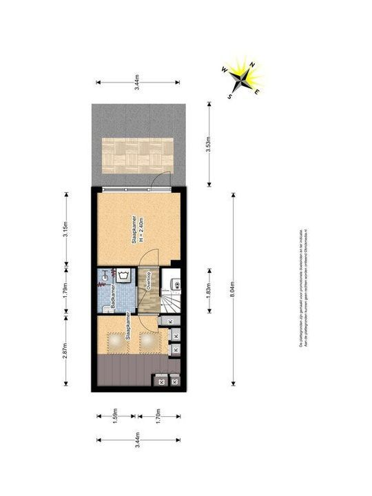Geerweg 117, Delft plattegrond-1
