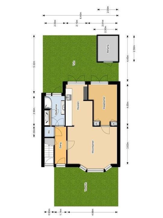 Verkadestraat 29, Delft plattegrond-0
