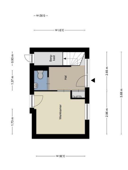 Werfpad 25, Delft plattegrond-0