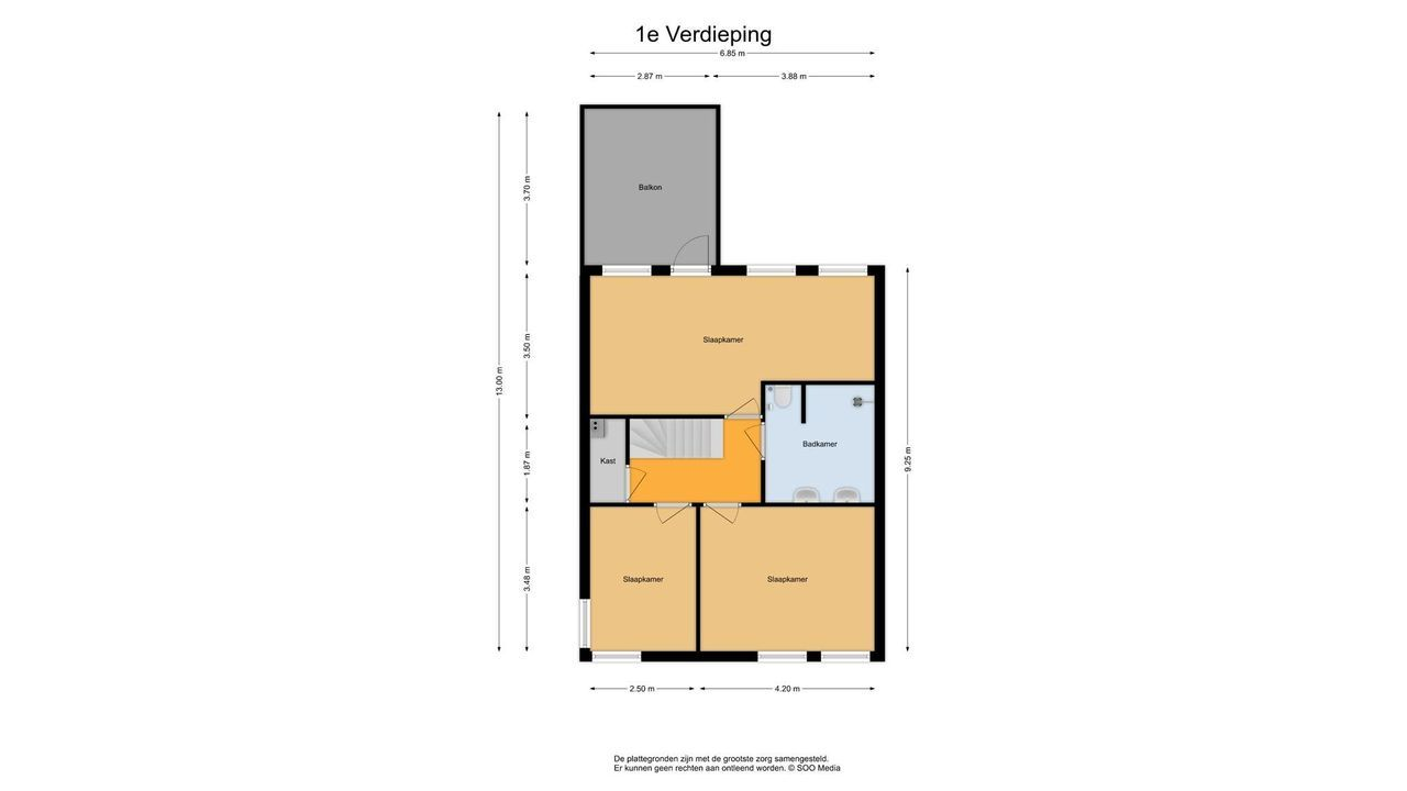 Lausbergstraat 51, Delft plattegrond-1