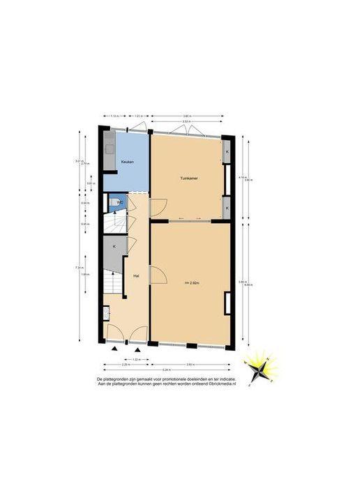 Nieuwe Langendijk 80 82, Delft plattegrond-0