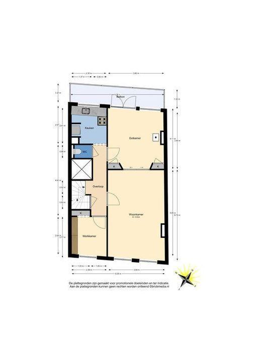 Nieuwe Langendijk 80 82, Delft plattegrond-1