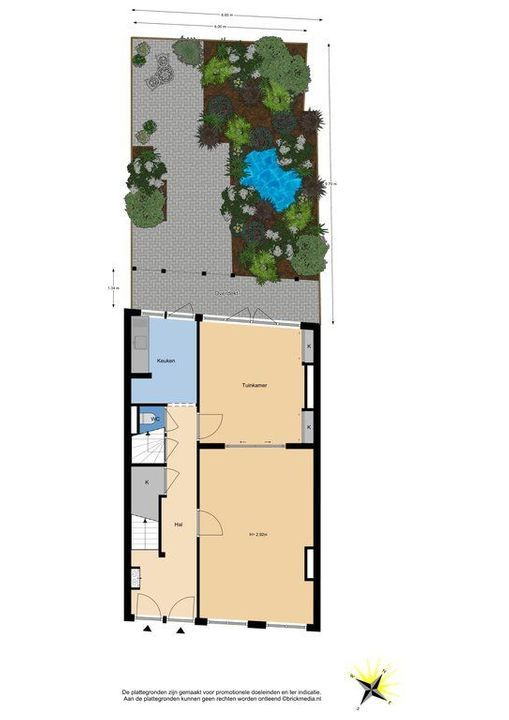 Nieuwe Langendijk 80 82, Delft plattegrond-4