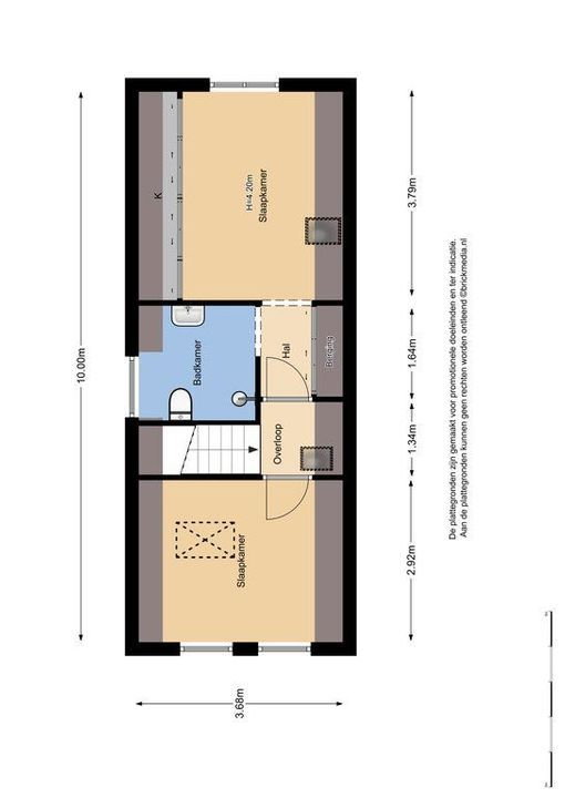 Dirklangenstraat 64 B, Delft plattegrond-3