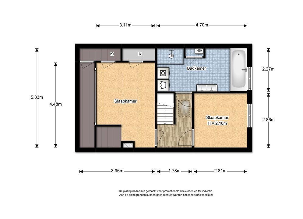 Laan van Overvest 12, Delft plattegrond-3