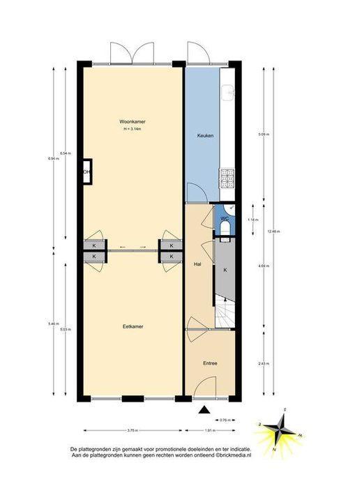 Mijnbouwplein 5, Delft plattegrond-1