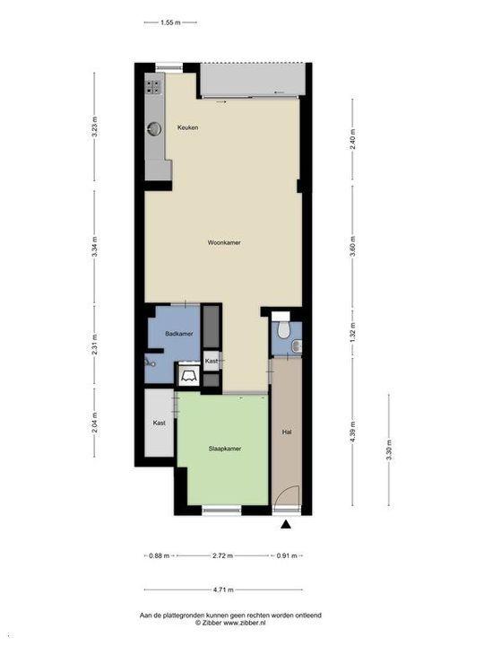 Nieuwe Schoolstraat 54, Delft plattegrond-0