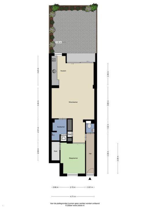 Nieuwe Schoolstraat 54, Delft plattegrond-1