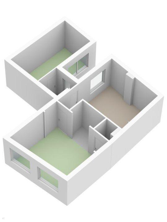 Achterom 6, Delft plattegrond-1