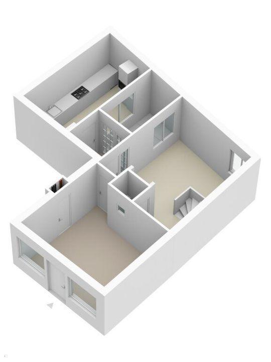 Achterom 6, Delft plattegrond-3