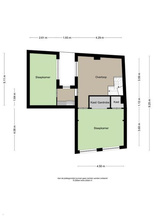 Achterom 6, Delft plattegrond-2