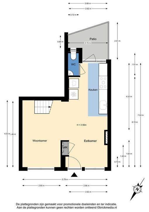 Van der Mastenstraat 43, Delft plattegrond-0
