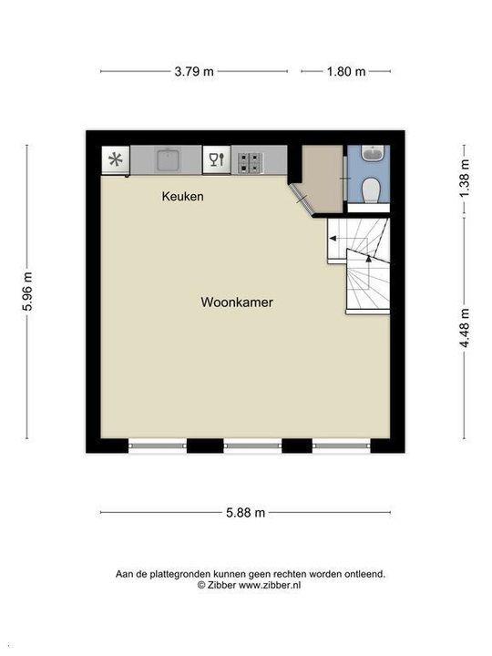 Molslaan 2 A., Delft plattegrond-1