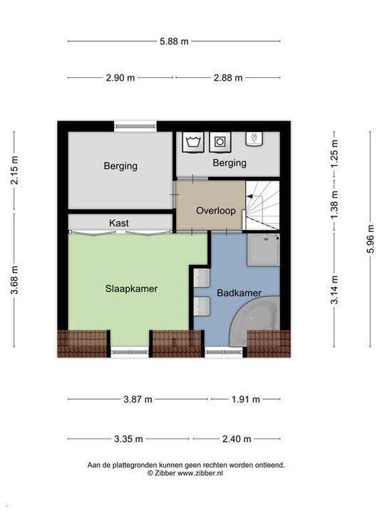 Molslaan 2 A., Delft plattegrond-2