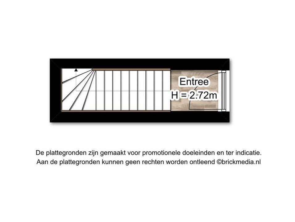 Oude Langendijk 12 D, Delft plattegrond-1