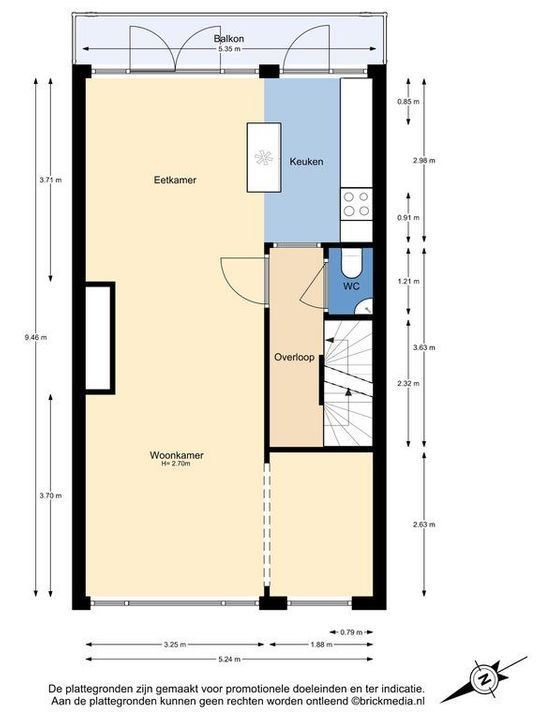 Hof van Delftlaan 77, Delft plattegrond-1