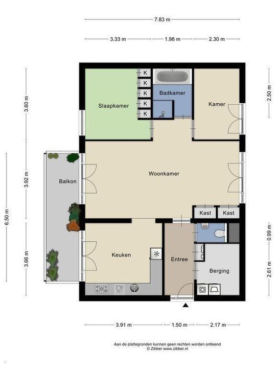 Bastiaansplein 45 ., Delft plattegrond-0