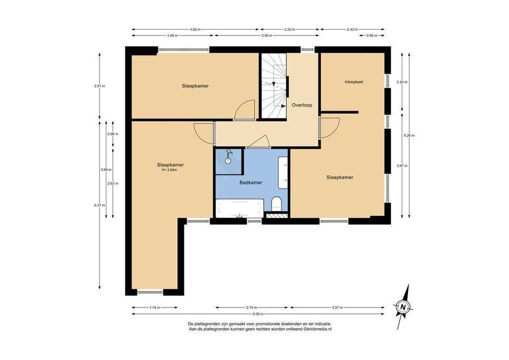 Kristalweg 154, Delft plattegrond-1