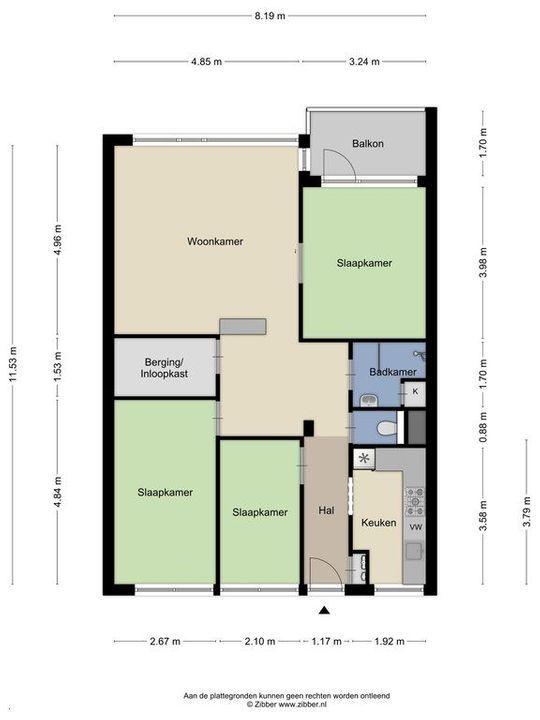 Papsouwselaan 279, Delft plattegrond-0