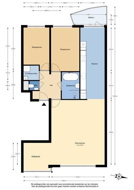 Zuideinde 215, Delft plattegrond-0