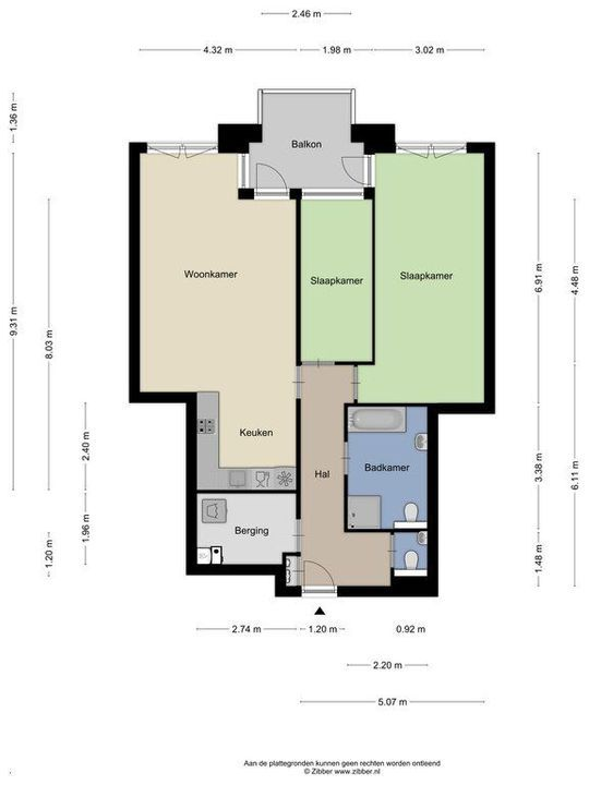 Zuidplantsoen 37, Delft plattegrond-0