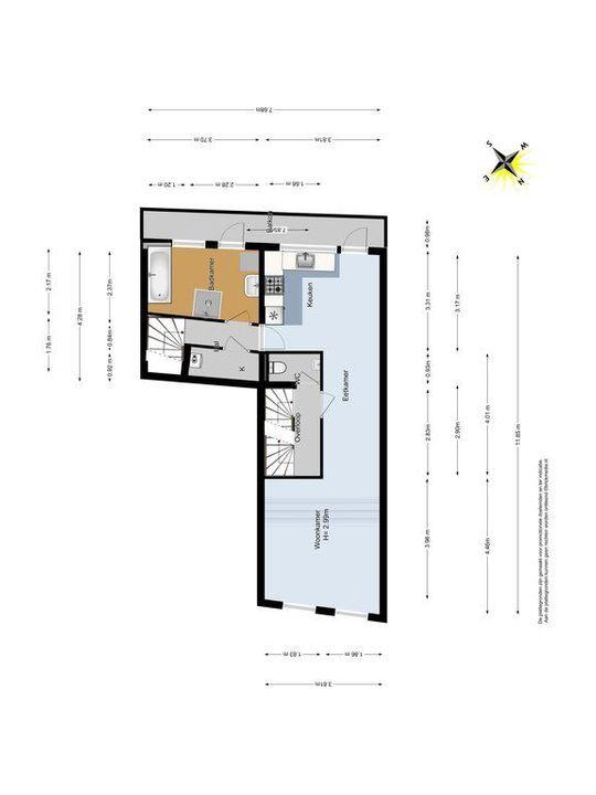 Noordeinde 65, Delft plattegrond-1