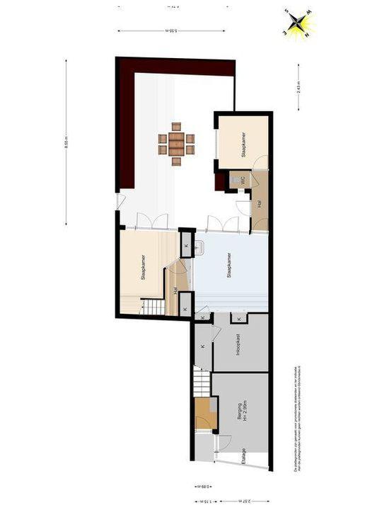 Noordeinde 65, Delft plattegrond-3