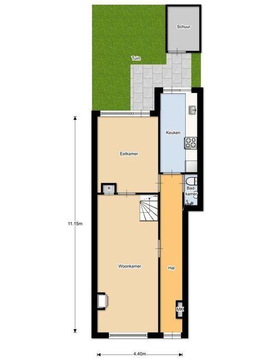 Nieuwe Langendijk 30, Delft plattegrond-0