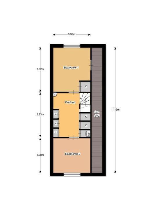 Nieuwe Langendijk 30, Delft plattegrond-2